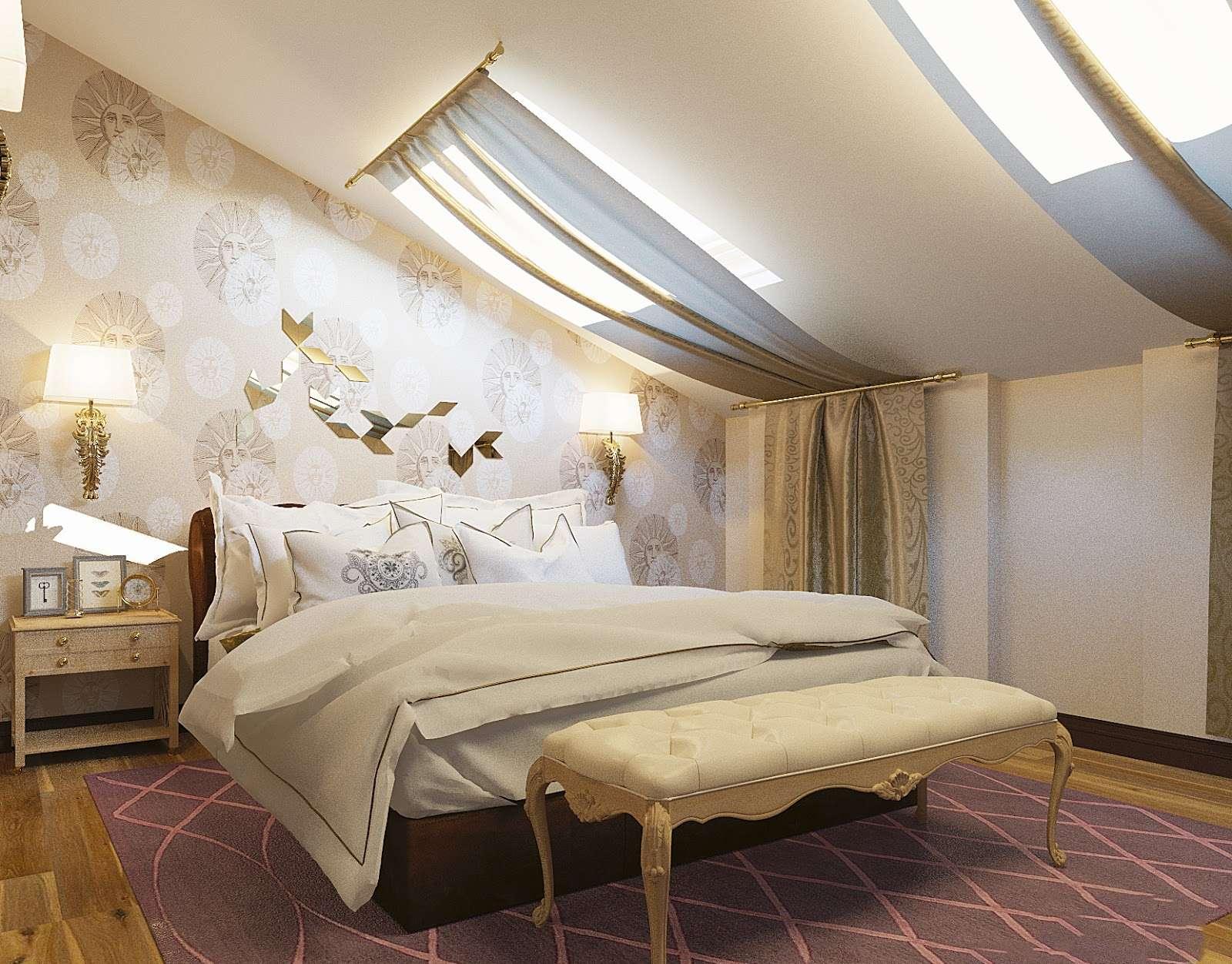 Идеи дизайна спальни на мансарде фото 7
