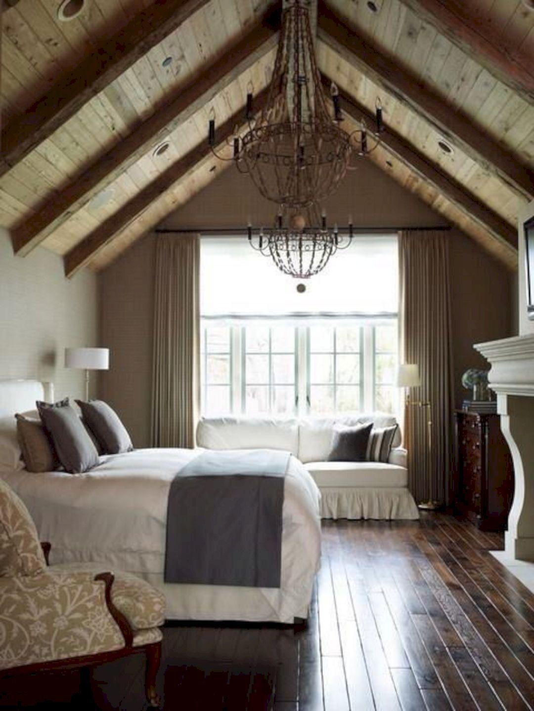 Идеи дизайна спальни на мансарде фото 13