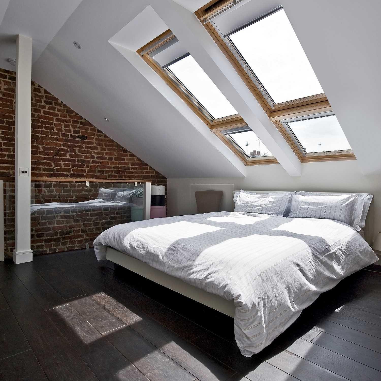 Идеи дизайна спальни на мансарде фото 12