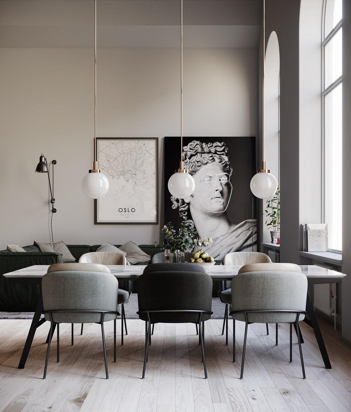 18 stilnyh i unikalnyh idej interera stolovoj komnaty