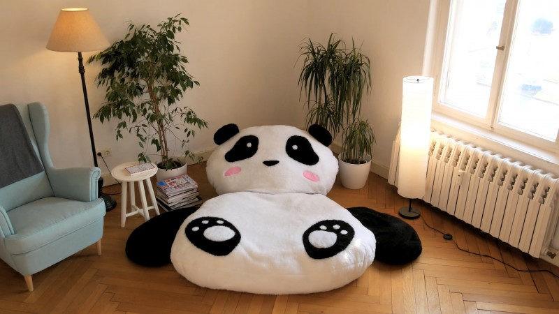 gigantskaja podushka panda dlja ujuta v vashem dome