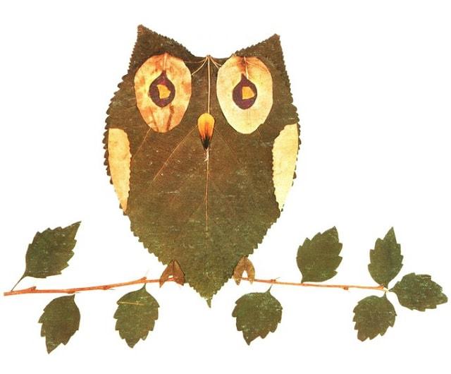 sobirajte listja i tvorite kraskami oseni