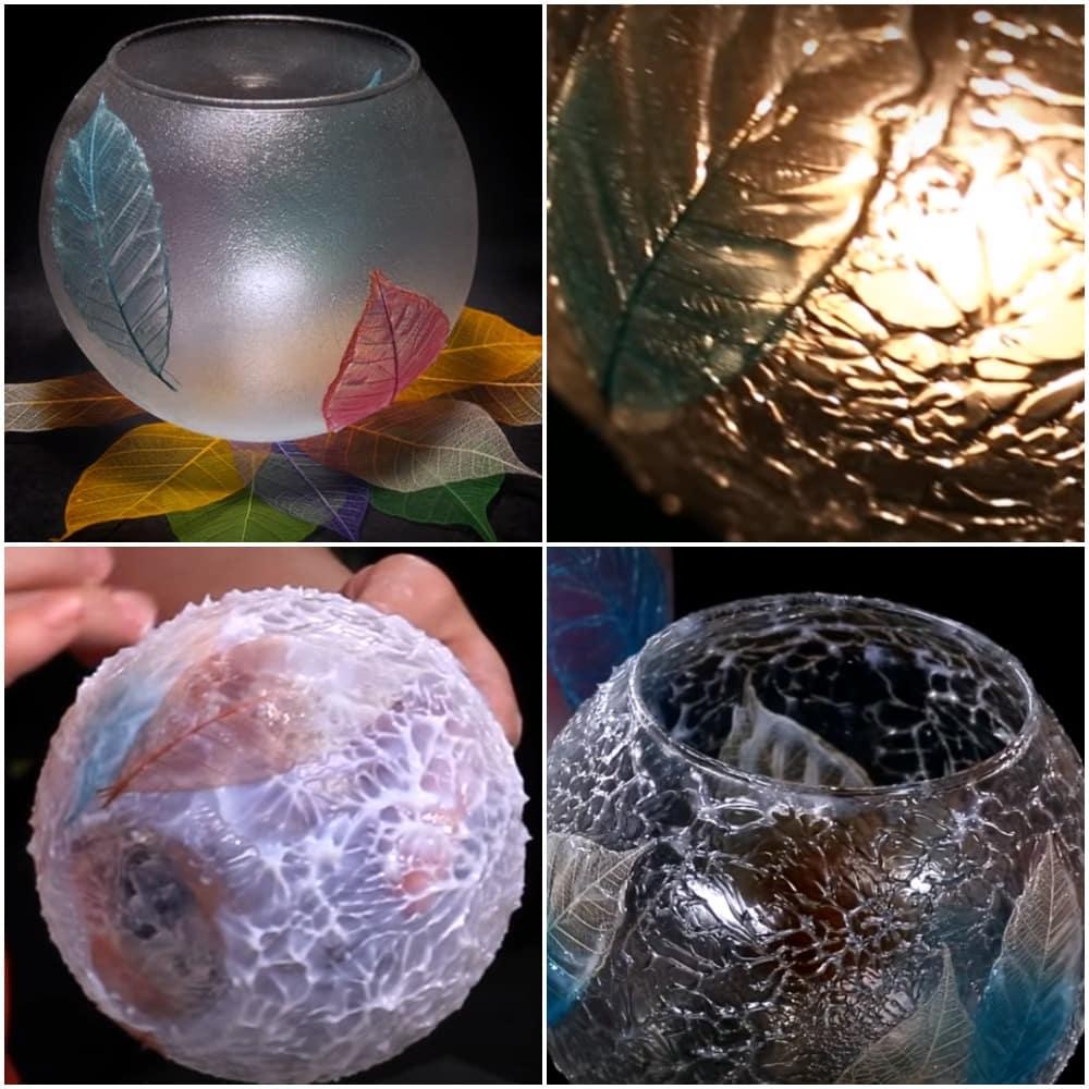 stilnaja osennjaja vaza s prozrachnym modelirujushhim gelem