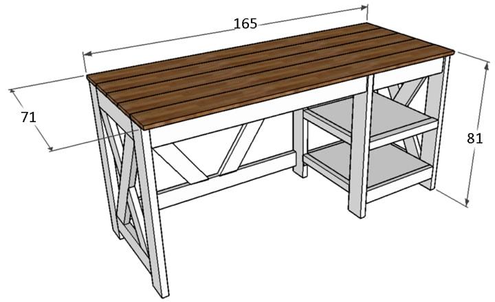 Красивый, стильный и функциональный стол своими руками