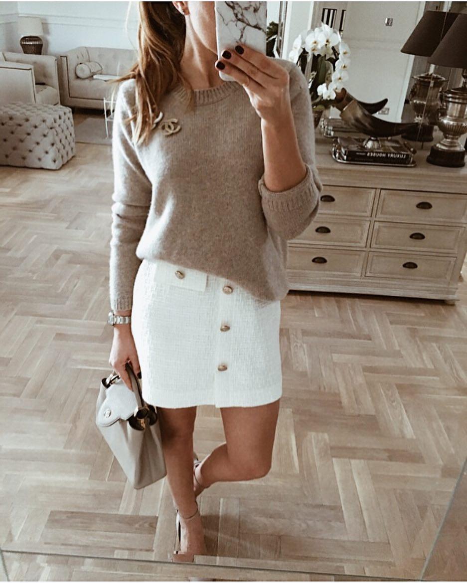 белая юбка 2020 фото 3