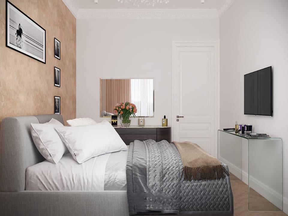 Дизайн интерьера небольшой спальни фото 7