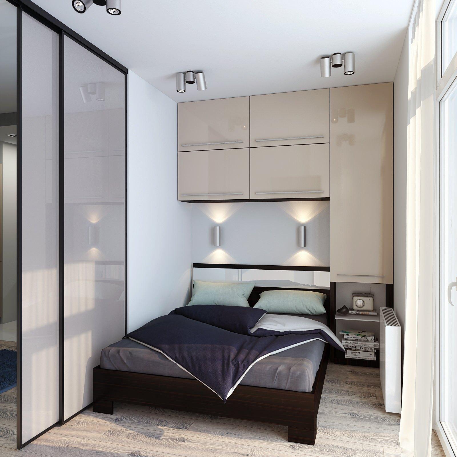 Дизайн интерьера небольшой спальни фото 11