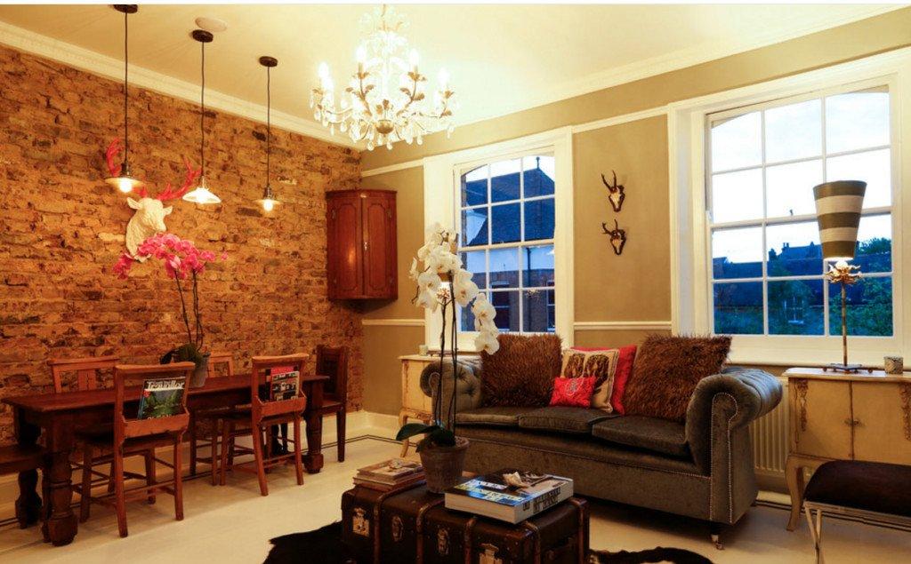 Идеи дизайна стен в гостиной комнате фото 1