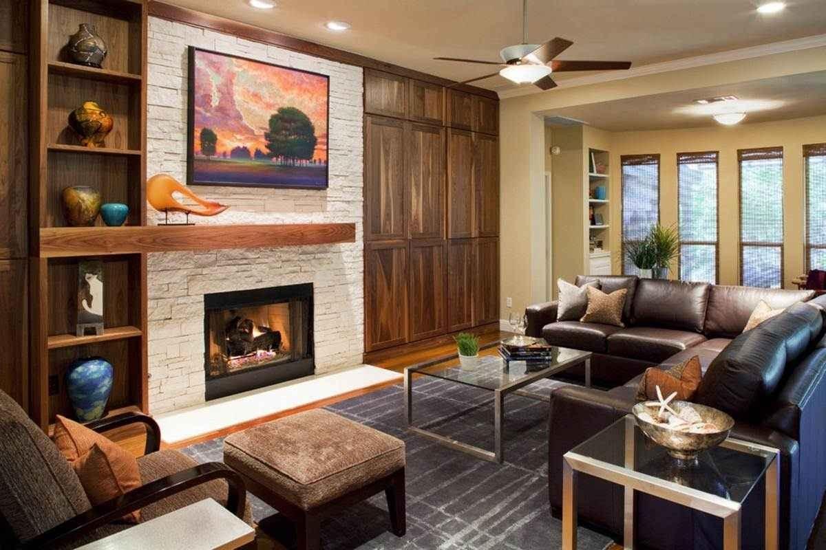 Идеи дизайна стен в гостиной комнате фото 4