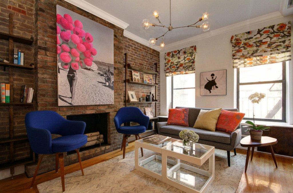 Идеи дизайна стен в гостиной комнате фото 10