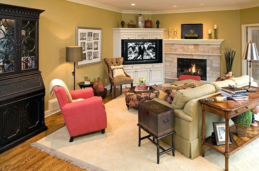 Идеи дизайна стен в гостиной комнате фото 6