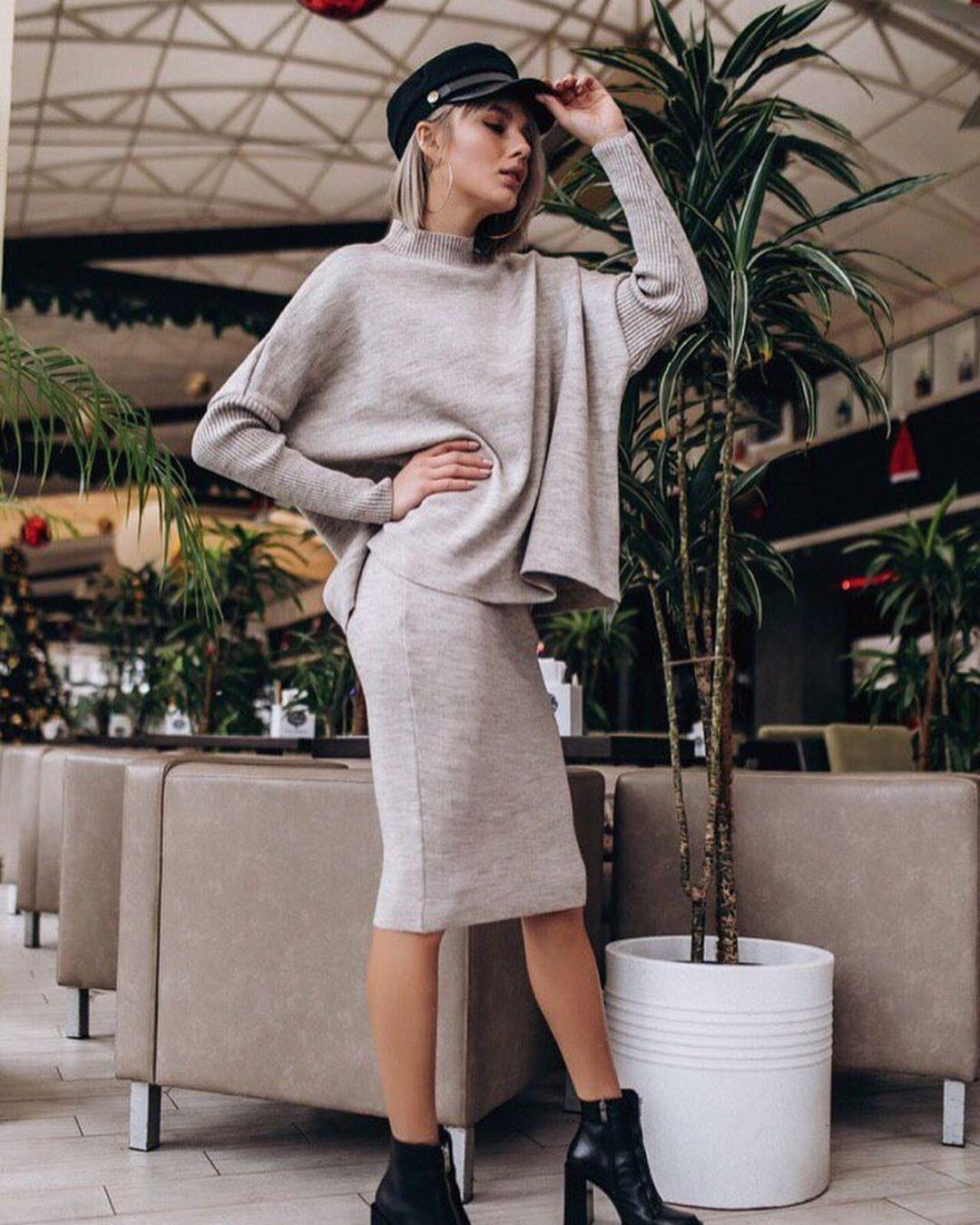 Вязаные юбки 2020 фото 4