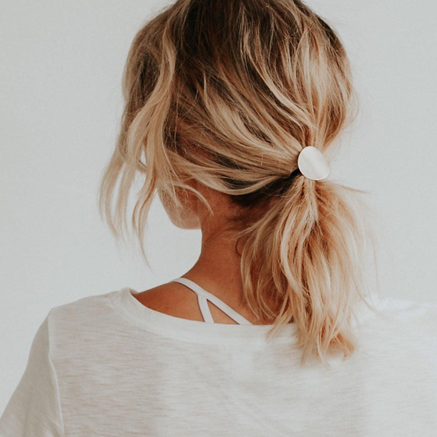 Хвост на средние волосы фото 12