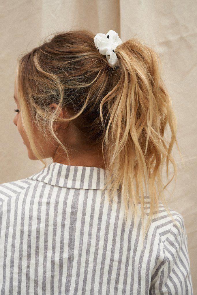Хвост на средние волосы фото 4