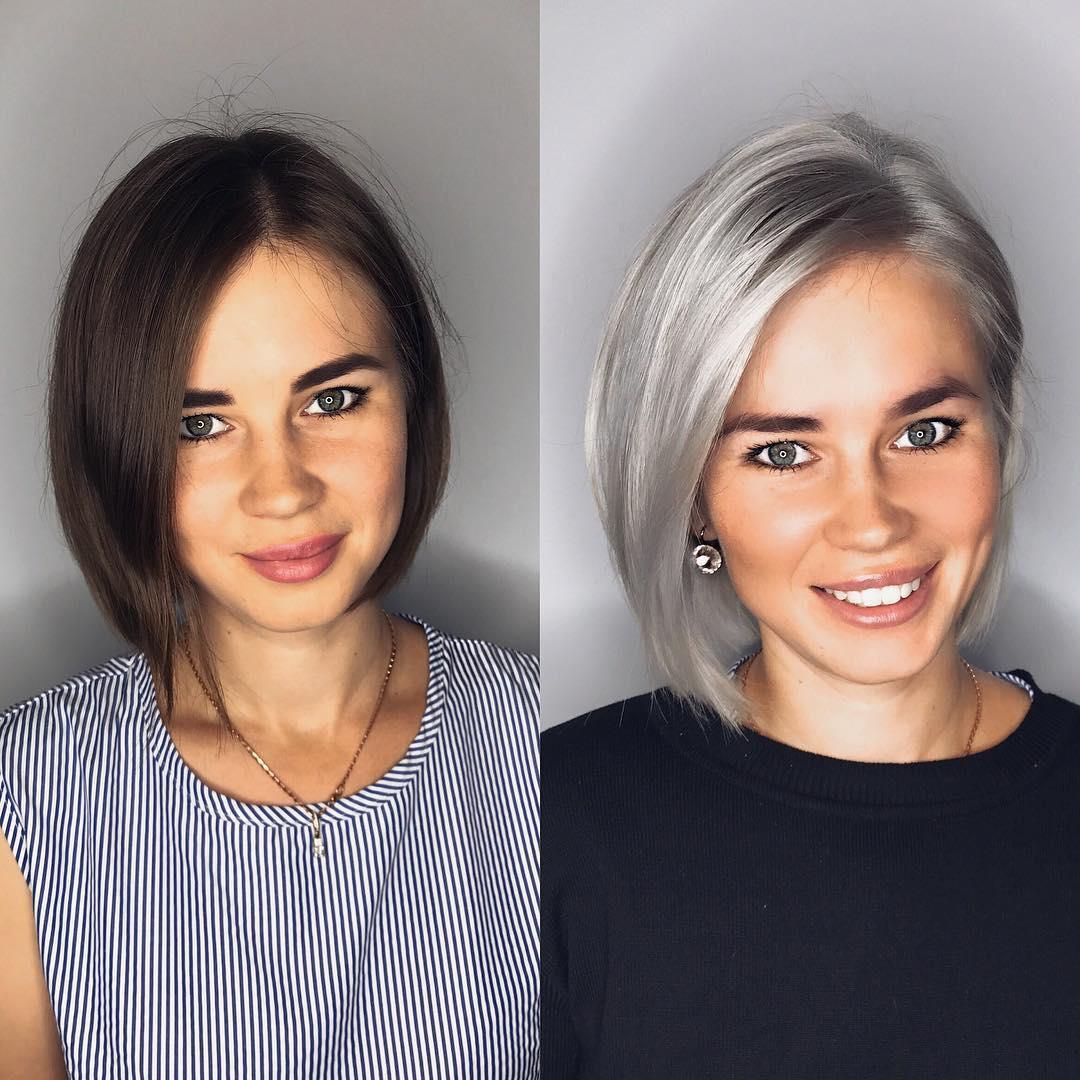 Асимметричные стрижки на короткие волосы 2020 фото 2