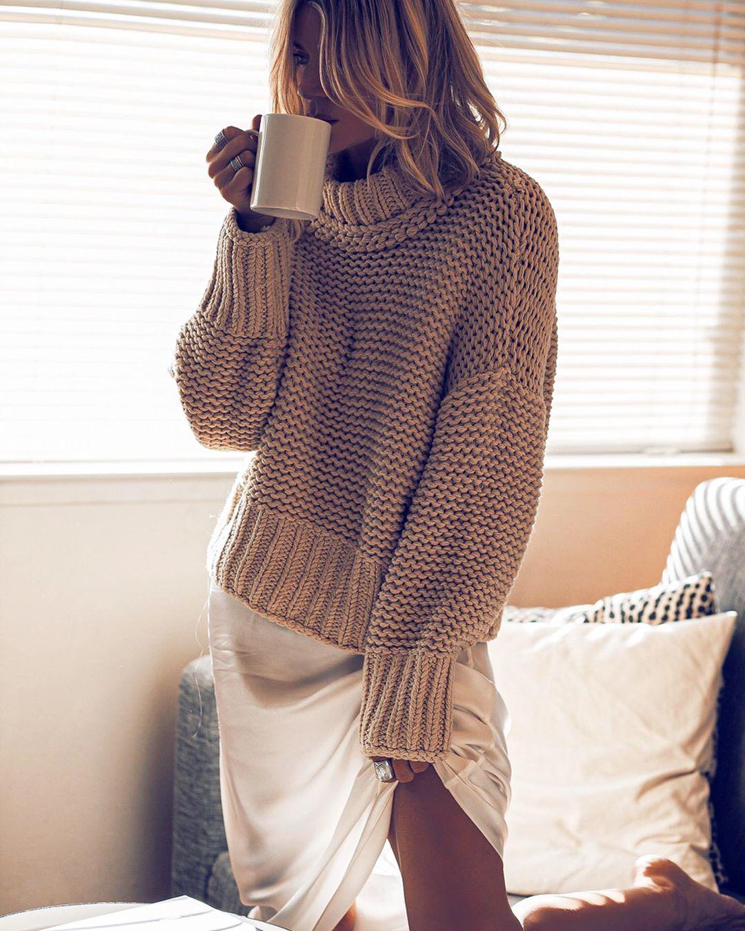Вязаный свитер 2020 фото 3