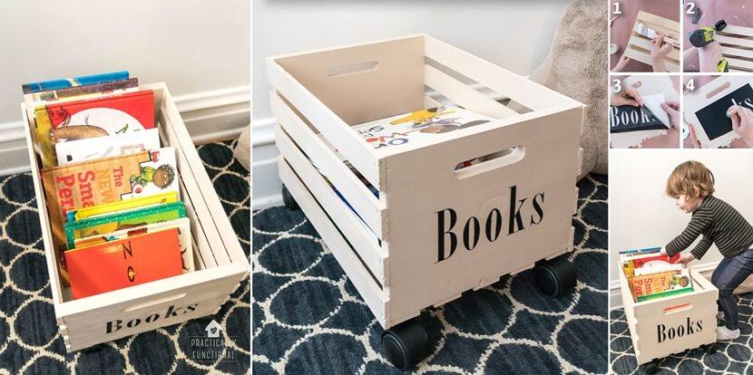 хранение детских книг фото 9