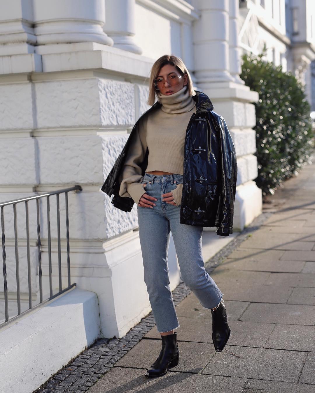 с чем носить джинсы зимой фото 18
