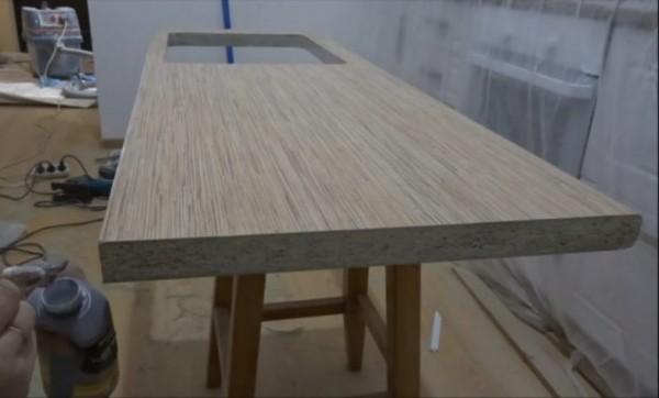 Установка кухонной столешницы в санузле