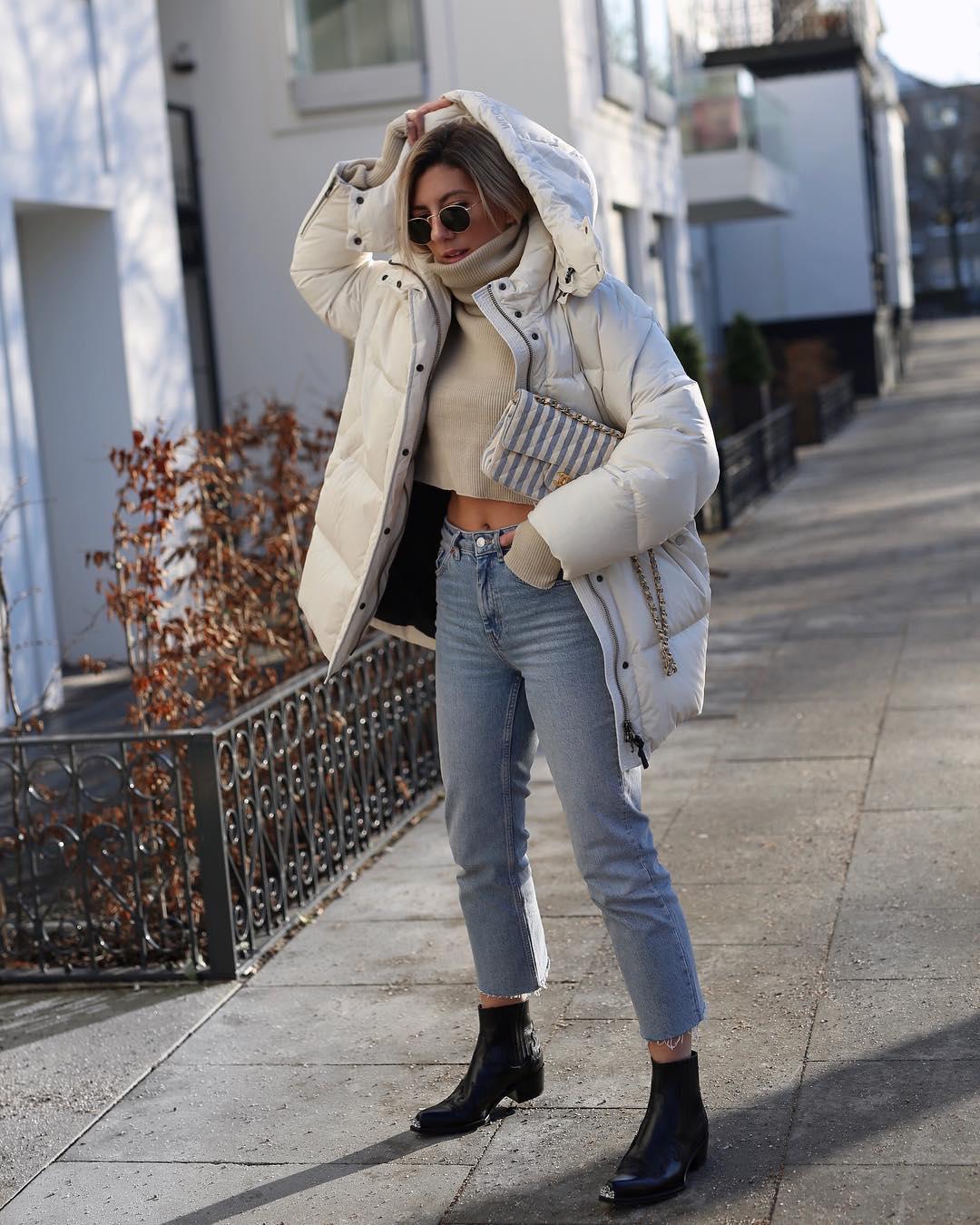 с чем носить джинсы зимой фото 17