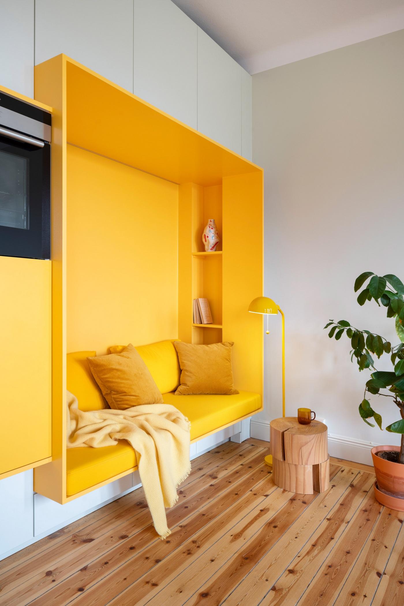 Жёлтый цвет в интерьере фото 9