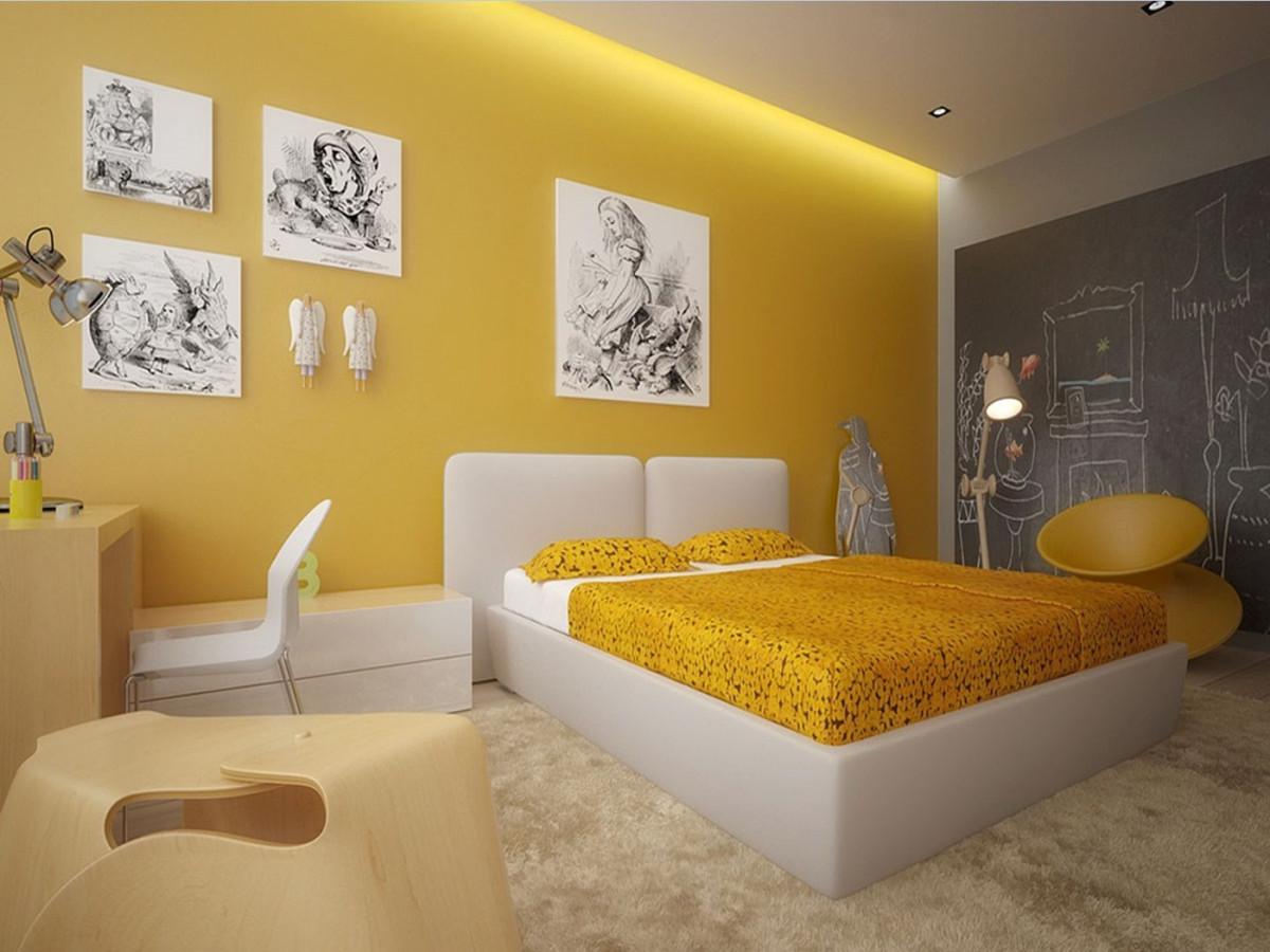 Жёлтый цвет в интерьере фото 1