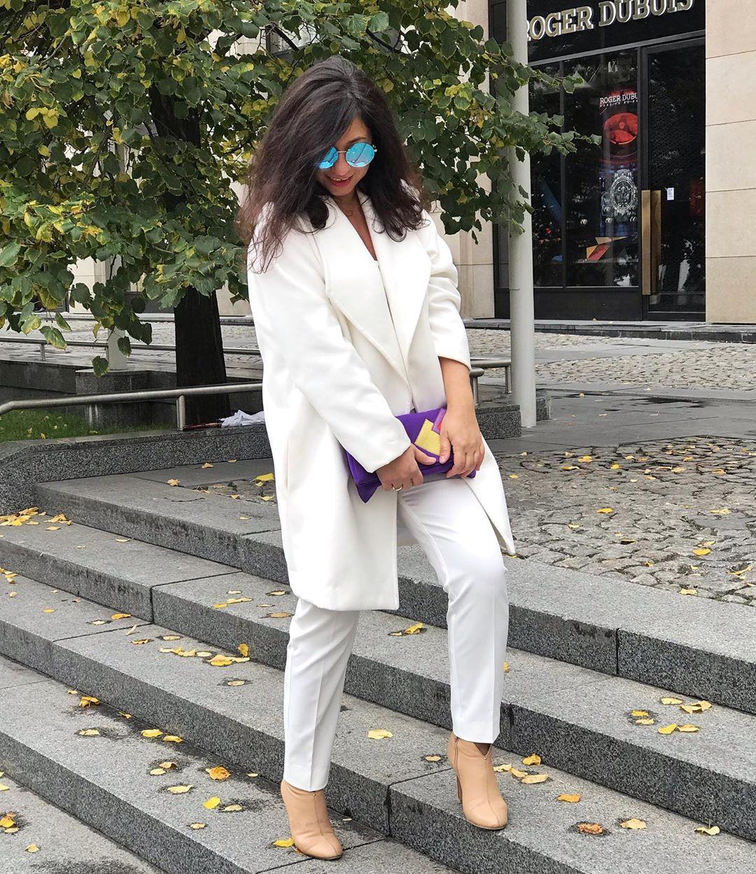 Белое пальто 2020 фото 2