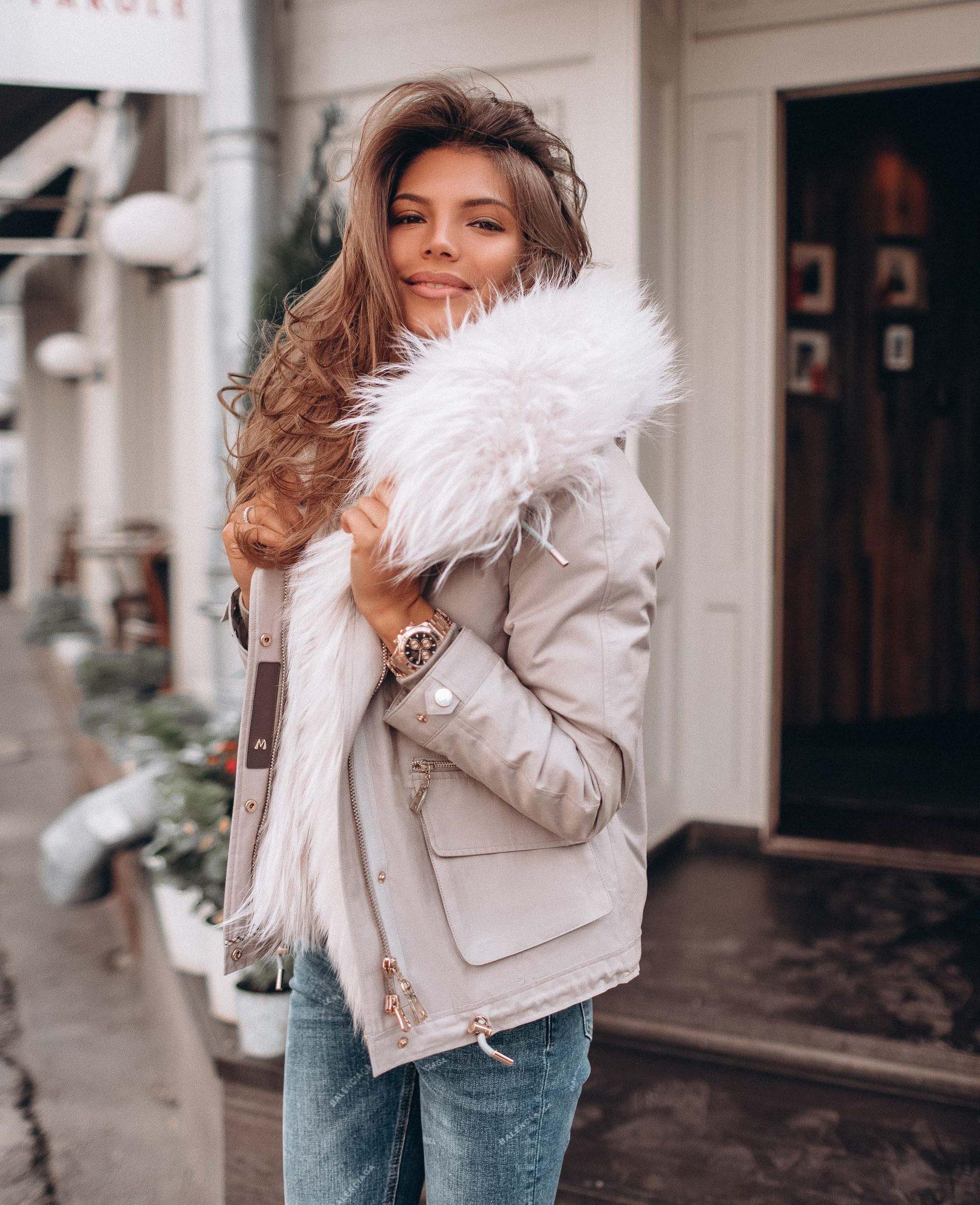 с чем носить зимние куртки с мехом фото 8