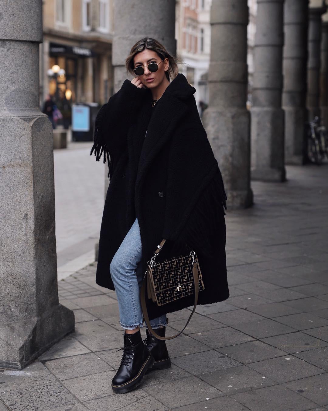 с чем носить джинсы зимой фото 9