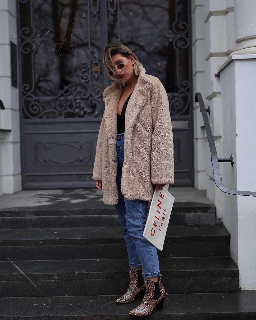 с чем носить джинсы зимой фото 16