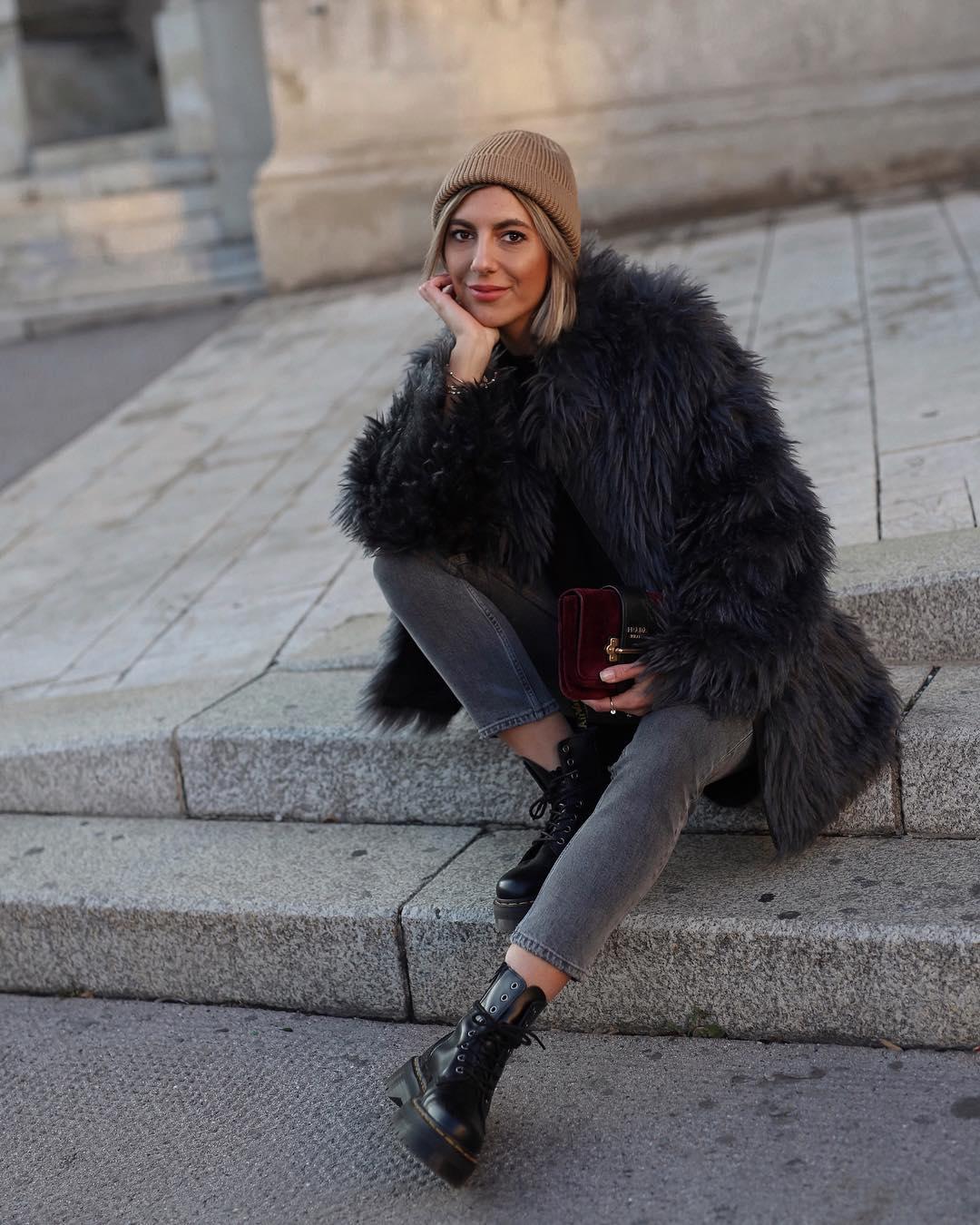 с чем носить джинсы зимой фото 11