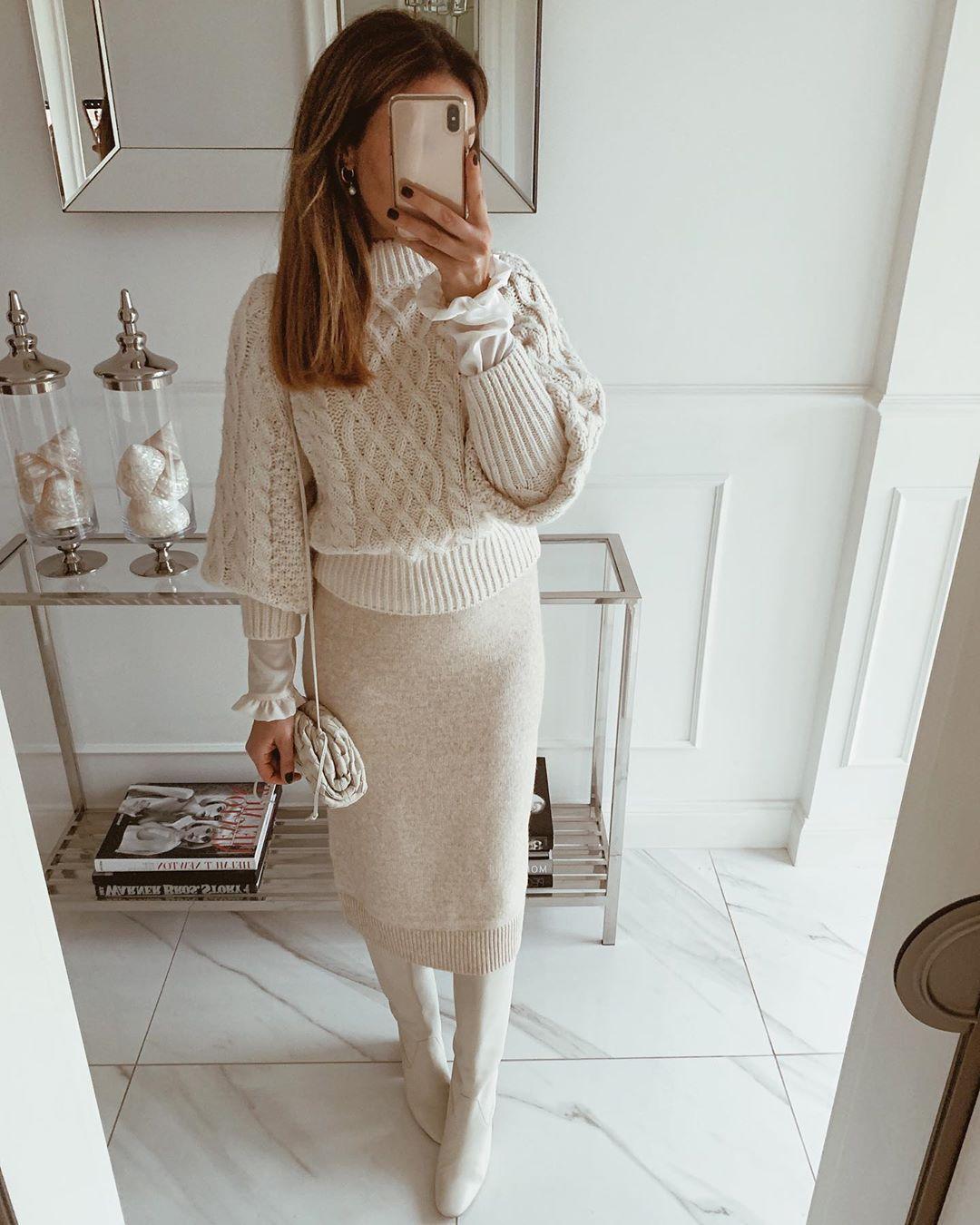 с чем носить юбку зимой 2020 фото 6