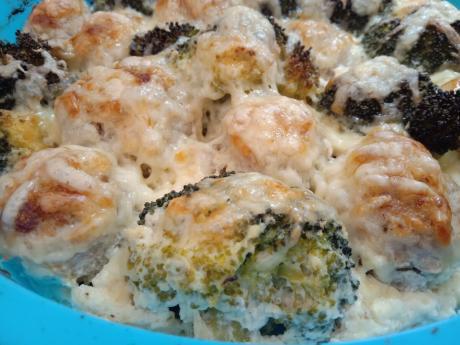 62mjasnoj graten s brokkoli bljudo zatmit ljubye kotlety i zapekanki 1