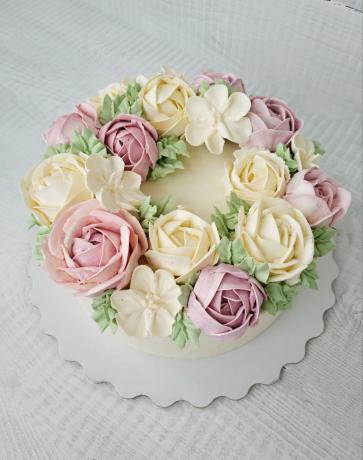 lavandovyy tort so smorodinoy k 8 marta 1