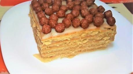 tort bez vypechki iz pechenya s zavarnym kremom 1