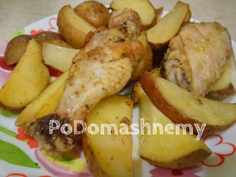 vkusnyy obed ili uzhin kartoshechka s kurochkoy v duhovke 1