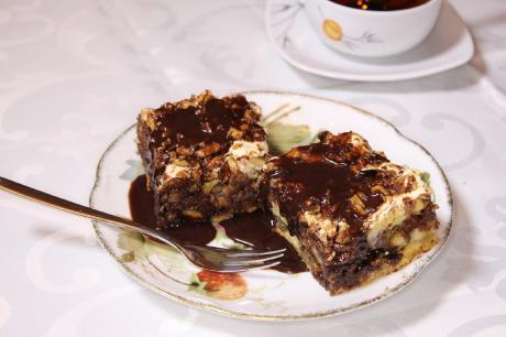 24pirog mishka shokoladno orehovyj nikogda ne ostaetsja dazhe kusochka vkusnosmachno jandeks dzen 1