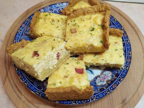 Сырно-луковый пирог. Готовить проще некуда