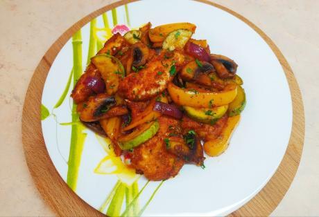 Нежная курица с овощами: мой любимый рецепт