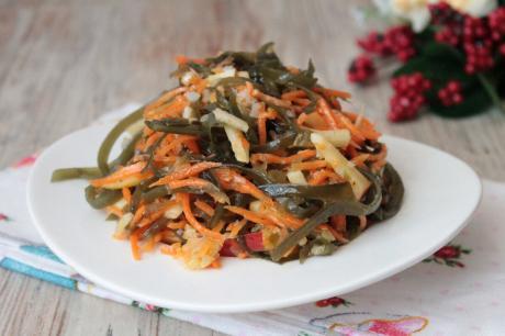 95ochen vkusnyj salat iz morskoj kapusty bez zapravki 1
