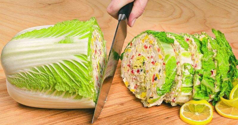 genialnye salaty iz pekinskoj kapusty i vkusno i ochen krasivo